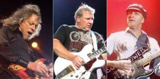 Kirk Hammett, Alex Lifeson e Tom Morello