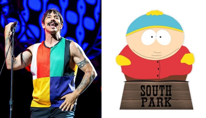 Anthony Kiedis e Cartman, do South Park
