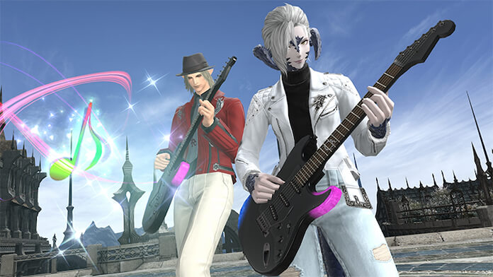 Guitarra de Final Fantasy da Fender no Final Fantasy XIV