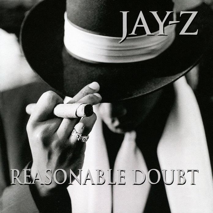 """Capa de """"Reasonable Doubt"""", álbum de estreia de Jay-Z"""