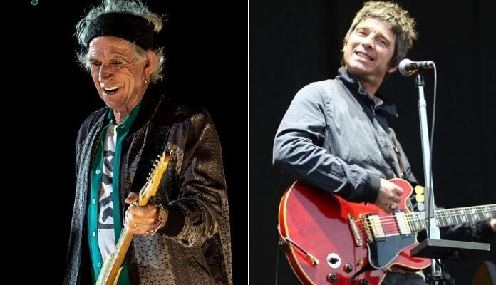 Keith Richards e Noel Gallagher