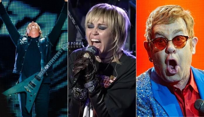 Metallica, Miley Cyrus e Elton John