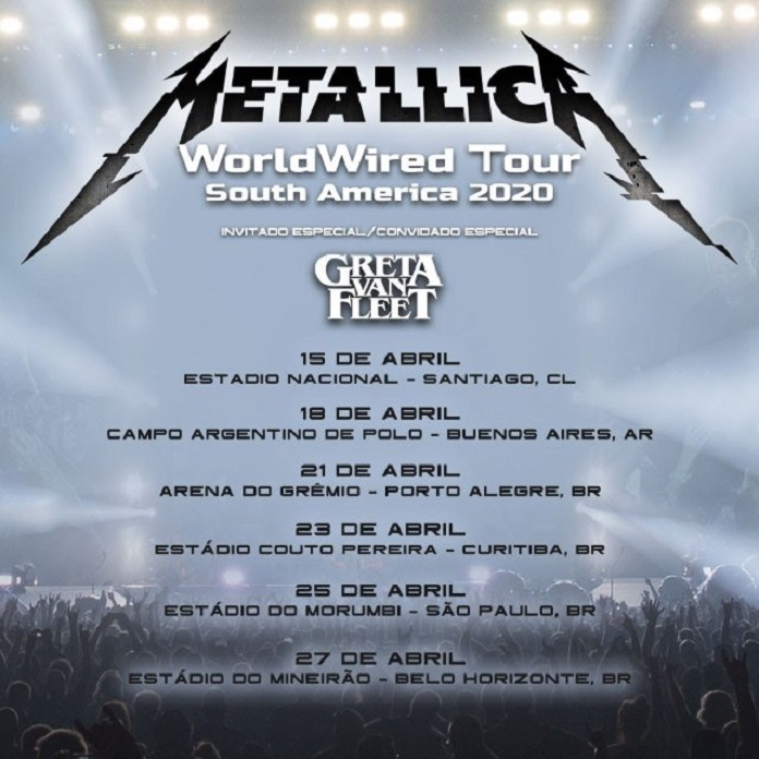 Metallica processa seguradora por não cobrir prejuízos causados por cancelamento de turnê