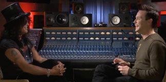 Slash conversando com Mark Hoppus