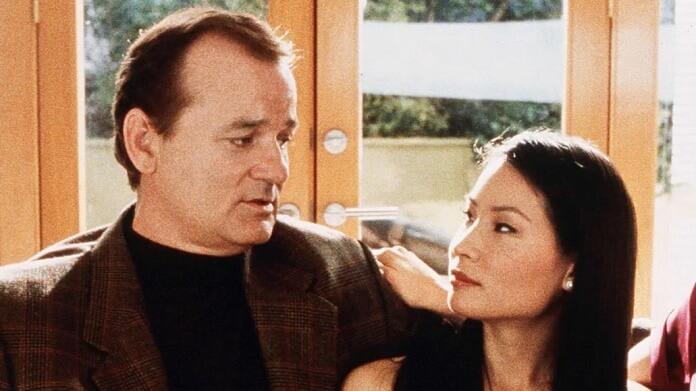 Bill Murray e Lucy Liu no set de As Panteras