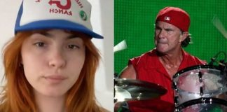 Ava Maybee e Chad Smith, do Red Hot Chili Peppers