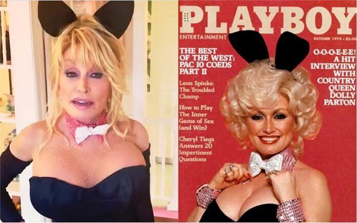 Dolly Parton recria sua icônica capa da Playboy