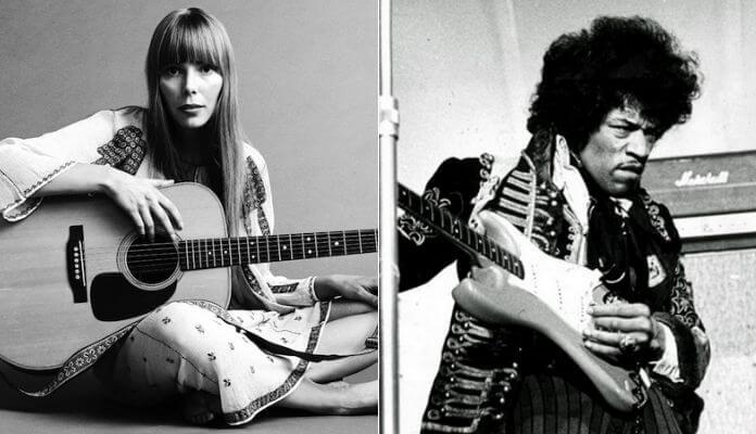 Joni Mitchell e Jimi Hendrix