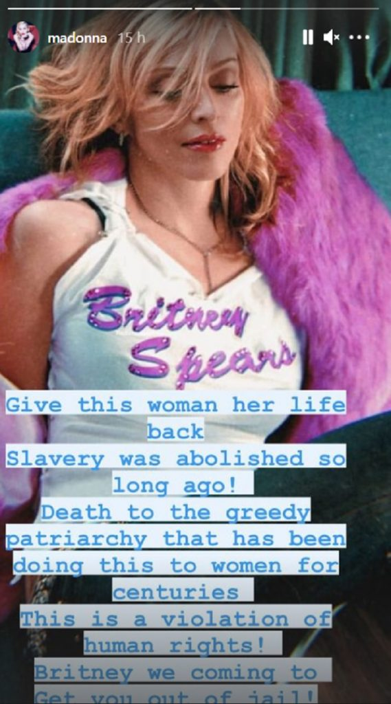Madonna envia mensagem de apoio a Britney Spears