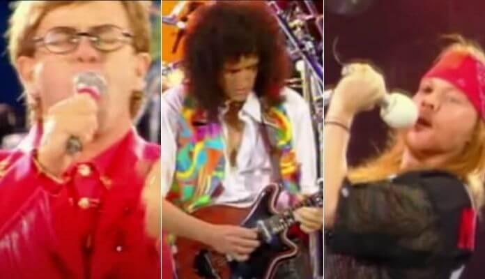 Elton John e Axl Rose cantam