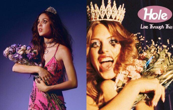 Compararações entre as capas dos álbuns de Olivia Rodrigo e Hole