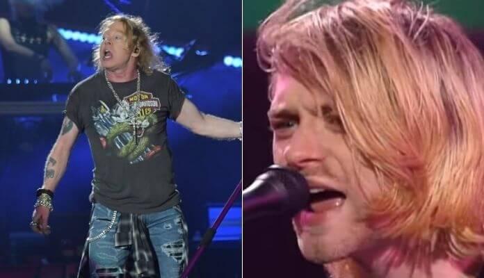 Axl Rose e Kurt Cobain