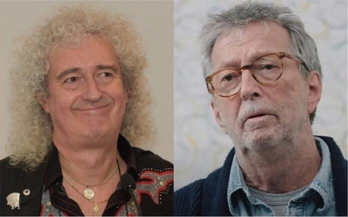 Brian May (Queen) critica anti-vacinas, incluindo Eric Clapton, e diz: