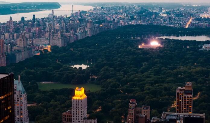 Show no Central Park, em Nova York