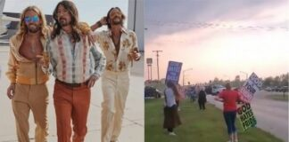 Foo Fighters trolla manifestação de igreja ultraconservadora tocando cover de Bee Gees