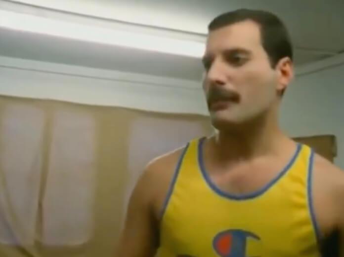 Freddie Mercury no dia de seu último show com o Queen