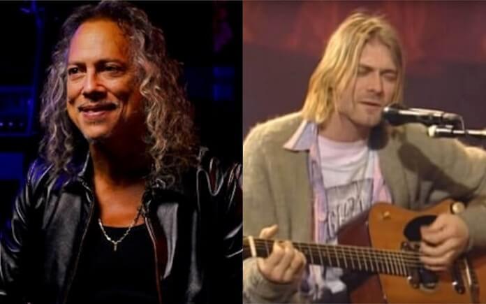 Kirk Hammett se surpreendeu quando descobriu que Kurt Cobain era