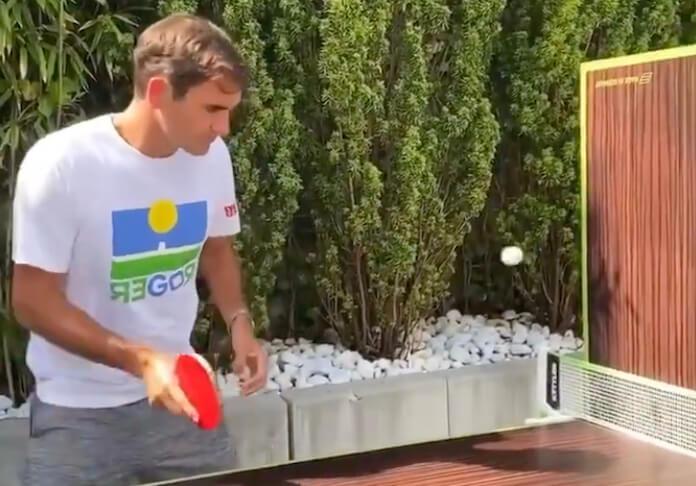 Roger Federer joga ping pong ao som de O Terno