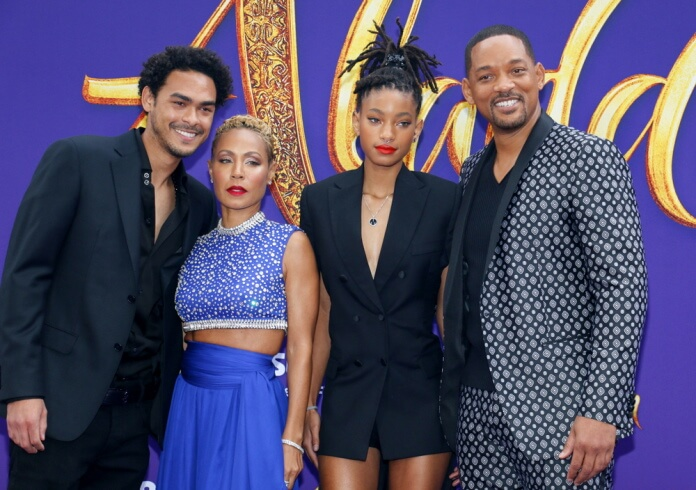 Will Smith com a família