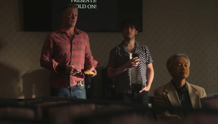 Josh Homme e Matt Helders no clipe do Royal Blood