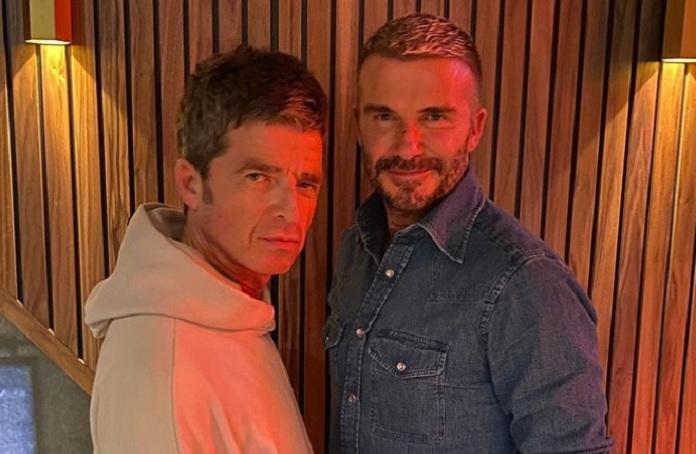 Noel Gallagher e David Beckham