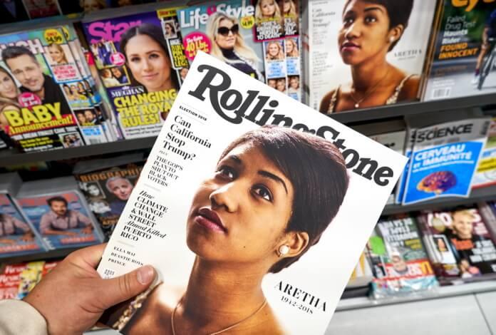 Aretha Franklin na capa da Rolling Stone