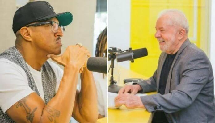 Mano Brown e Lula em podcast
