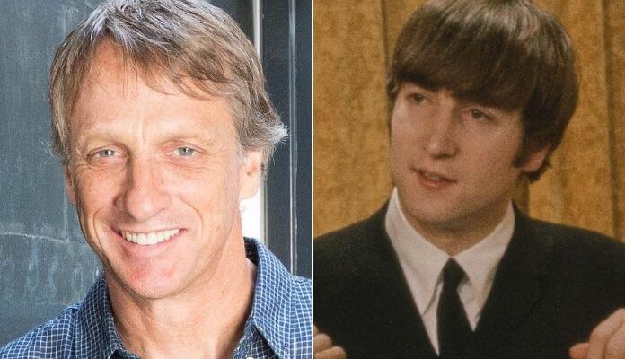 Tony Hawk e John Lennon, dos Beatles