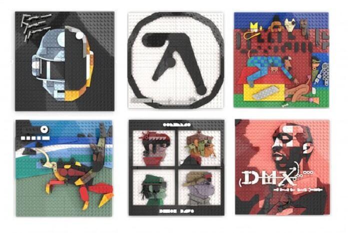 Artista recria capas de álbum famosas por meio de réplicas de LEGO