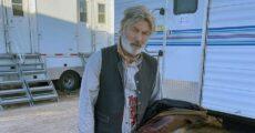 """Alec Baldwin no set de filmagem de """"Rust"""""""