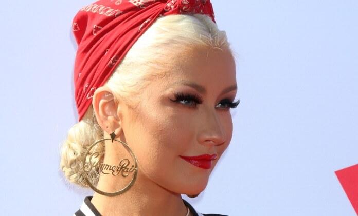 Christina Aguilera em evento do The Voice, 2016