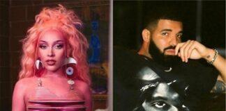 Doja Cat supera Drake em ouvintes mensais no Spotify