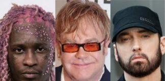 Elton John diz que Young Thug é melhor no freestyle do que Eminem