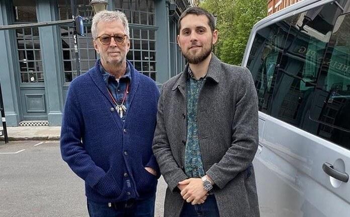 Eric Clapton e a banda Jam For Freedom