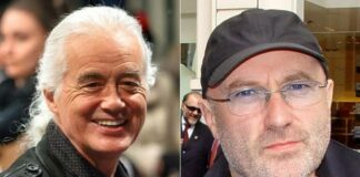 Jimmy Page e Phil Collins