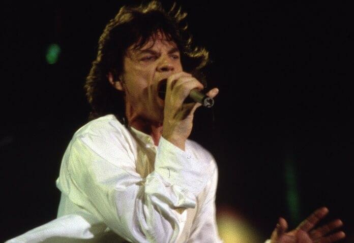 Mick Jagger com os Rolling Stones em Washington D.C., 1994