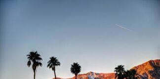 Montanhas na região do festival de Coachella